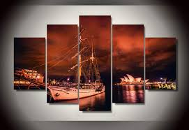 aliexpress com buy 5 panel the sydney city at night wall art