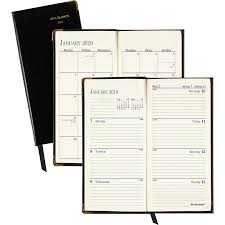 at a glance leather fine diary weekly monthly planner aag70111005