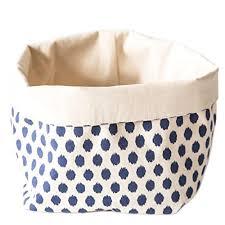One Design Home Baskets Foldover Storage Basket Shelf Bin 100 Natural Fabric