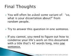 Dissertation about