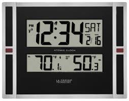 la crosse technology 513 149 11 inch atomic digital wall clock with temperature