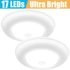 Battery Operated Photocell Light Motion Sensor Ceiling Light Battery Operated Sunvie Wireless Motion Sensing Activated Led Closet Light Warm White Indoor For Stairs Hallway Garage