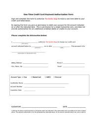 Credit Card Authorization Form By Buddy Bags Issuu