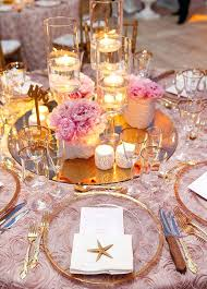 full image for round mirror table centerpieces flowers starfish and candlelight how beautiful is this beach