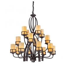 rustic 16 light bronze chandelier with erscotch onyx candle shaped shades