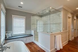bathroom crown molding. Master Bathroom With Crown Molding, Handheld Shower Head, High Ceiling, Frameless Showerdoor, Molding O