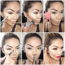 manucure and makeup contour highlight