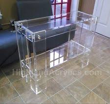 lucite console table. Acrylic Clear Lucite Console / Sofa Table MADE IN USA