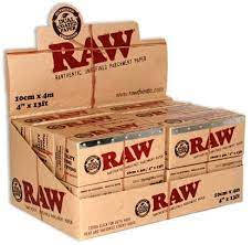 Amazon.com: RAW Unrefined Parchment Paper Roll (12 roll display box, 100mm  size)