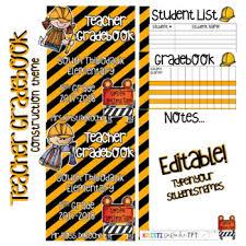 Teacher Grade Book Editable Construction By Kristi Deroche Tpt