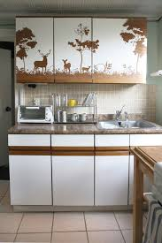 Contact Paper Decorative Designs Kitchen Cabinet Contact Paper With Wood Grain Pattern And White Top 41