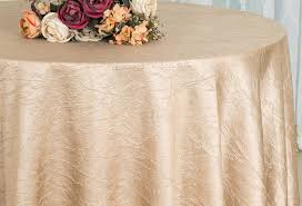108 seamless round crushed taffeta tablecloth champagne 61428 1pc pk