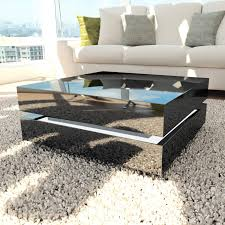 high gloss black coffee table with led lighting tiffany range tiff015