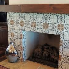 simple treatment for master bedroom fireplace using the 4 piece pattern that coordinates w bathroom tile