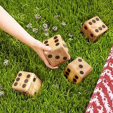 Wooden Yard Games Yard Dice backyard games dice wooden game UncommonGoods 45