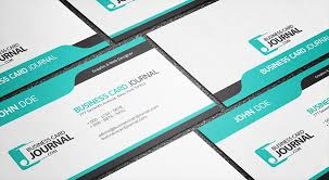 Card Design Template Free Cool Blue Creative Business Card Template