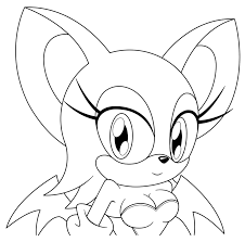 Sonic Coloring Pages Rouge Murderthestout
