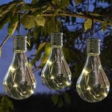Set Of 7 Noma Solar Edison Bulb String Garden Lights 1017024 Noma Solar Lights