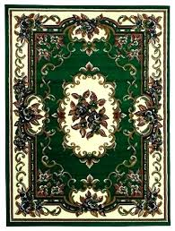 Hunter Green Towels Rug Oriental Design Area Traditional