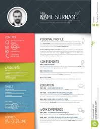 Resume Website Template Cv resume template stock vector Illustration of curriculum 88