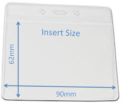 identity card size clear id card holder wallet with pocket landscape insert size 90