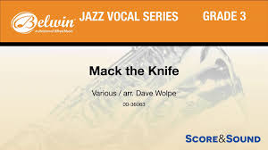 Dave Wolpe Charts Mack The Knife Arr Dave Wolpe Score Sound