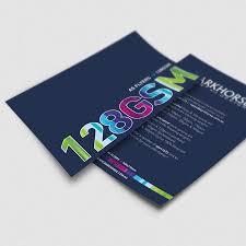 Discount Flyer Printing Colour Flyer Printing Custom Design Dark Horse