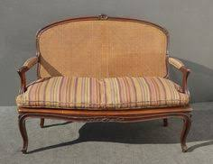 indian antique french cushions. Beautiful Vintage French Country Carved Wood Cane SETTEE W Down Cushion Loveseat Indian Antique Cushions