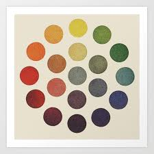 Art Spectrum Colour Chart Parsons Spectrum Color Chart 1912 Remake Art Print By Coloria