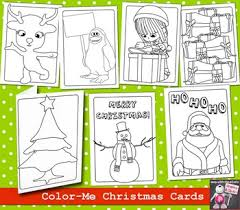 Free printable christmas greeting cards, writing paper and envelopes. Christmas Card To Color Worksheets Teaching Resources Tpt