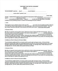 Printable Sample Simple Room Rental Agreement Form Letting House ...