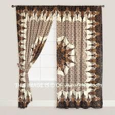 ... Bohemian Indian Mandala Bedroom Curtains Brown Dorm Room Drapes Jaipur  Handloom