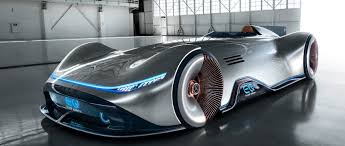 mercedes benz. Fine Benz The MercedesBenz Vision EQ Silver Arrow In Alubeam Silver On Mercedes Benz