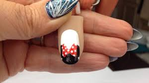 Minnie Mouse nail art tutorial - YouTube