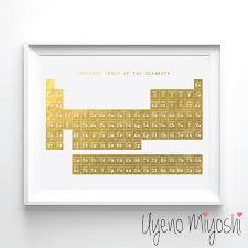 Periodic Table I Gold Foil Print Gold Print Custom Print in