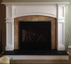 how to tile a fireplace surround and hearth faux wood trim an electric log my diy