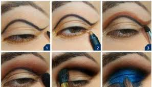 deep blue makeup tutorial
