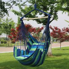 com sorbus hanging rope hammock chair swing seat for any indoor or outdoor spaces max 265 lbs 2 seat cushions included garden outdoor