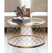 coffee table marvelous living room tables gold glass top coffee intended for round moroccan