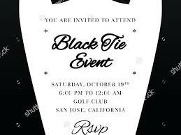 Black Tie Event Invitations Black Tie Event Black Tie Event