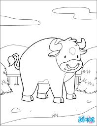 Un Coloriage De Vache Simple Pour Les Enfants Un Coloriage Sur Le