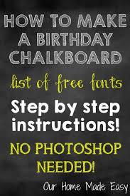 create a diy birthday chalkboard