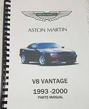 aston martin car workshop manual aston martin v8 vantage virage 93 00 parts manual reprinted a4 comb bound 321
