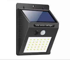 led solar battery wall light