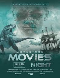Adventure Movies Night Flyer Design Template In Psd, Word, Publisher
