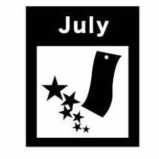 7月シルエット イラストの無料ダウンロードサイトシルエットac