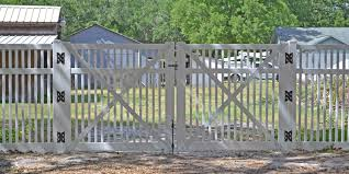 picket fence double gate. 72 Inch Sacramento Double Drive Gate Picket Fence