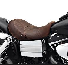 harley davidson reg low profile solo seat dyna reg distressed brown leather