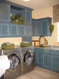 Interior:Neat Open Laundry Room Idea With White Storage Cabinets And  Ceiling Track Lights Nice