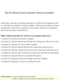 Software Testing Fresher Resume Sample Resume Format For Software